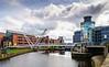 Pedestrian Bridge & Royal Armouries Museum from Crown Point Bridge - Leeds, England, UK