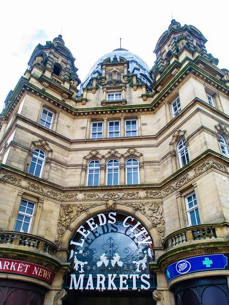 Kirkgate Market Entrance - Leeds, England, UK