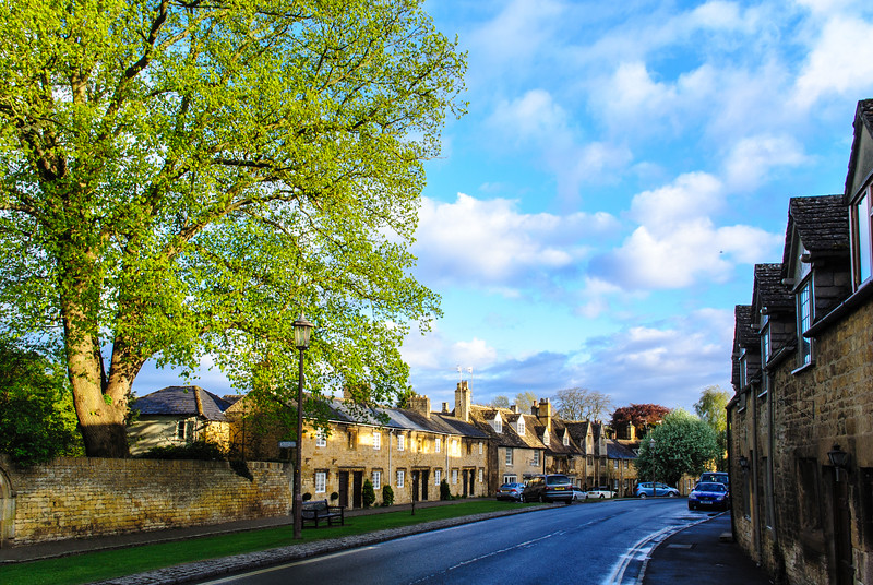 Evening on Leysbourne (B4081) - Chipping Campden, England, UK