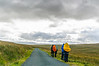 Hikers on Long Causeway @ Tan Hill Inn - North Yorkshire, England, UK