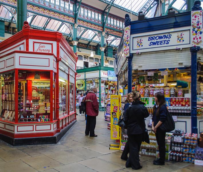 Ear Piercing & Brown's Sweets @ Kirkgate Market - Leeds, England, UK
