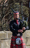 Bagpiper on Framwellgate Bridge - Durham, England, UK