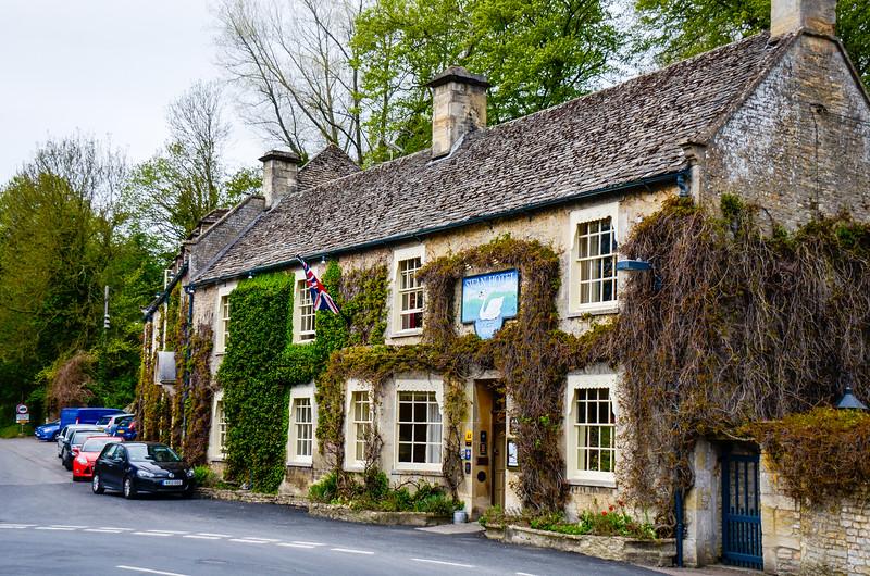 The Swan Hotel c. 1600's - Bibury, Gloucestershire, England, UK