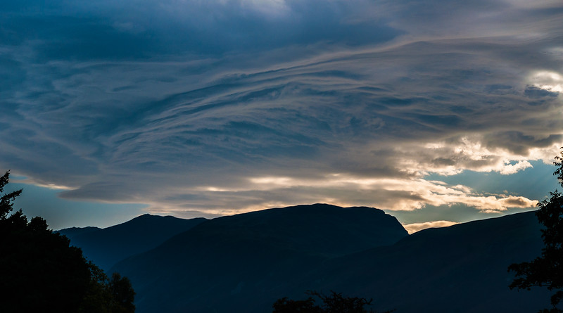 Sunset Above Derwent - Keswick