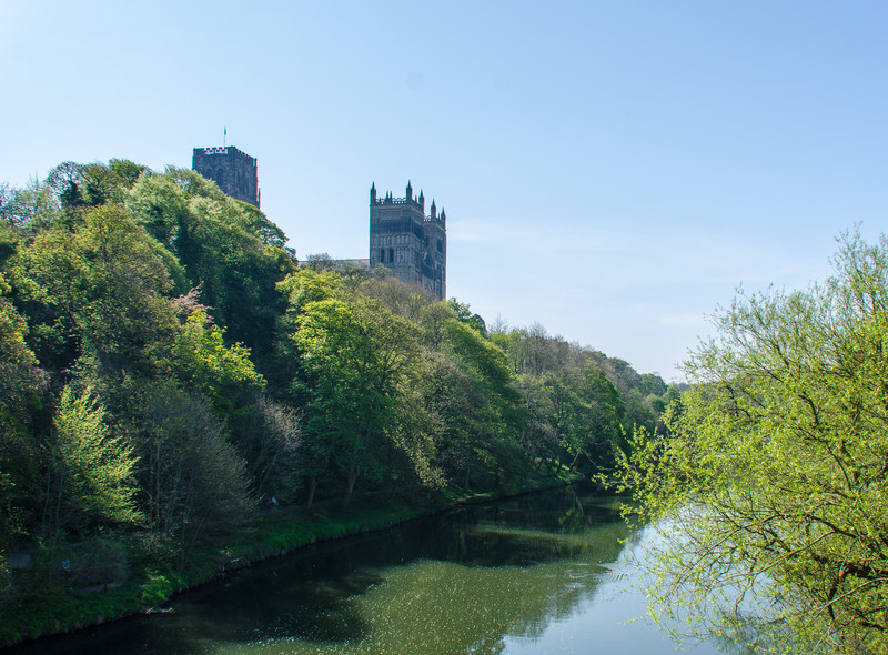 Durham Cathedral from Framwellgate Bridge - Durham, England, UK