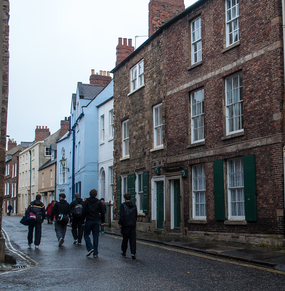 Students on the way to class at Durham University- Durham, England