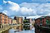 View East of River Aire from Leeds Bridge - Leeds, England, UK