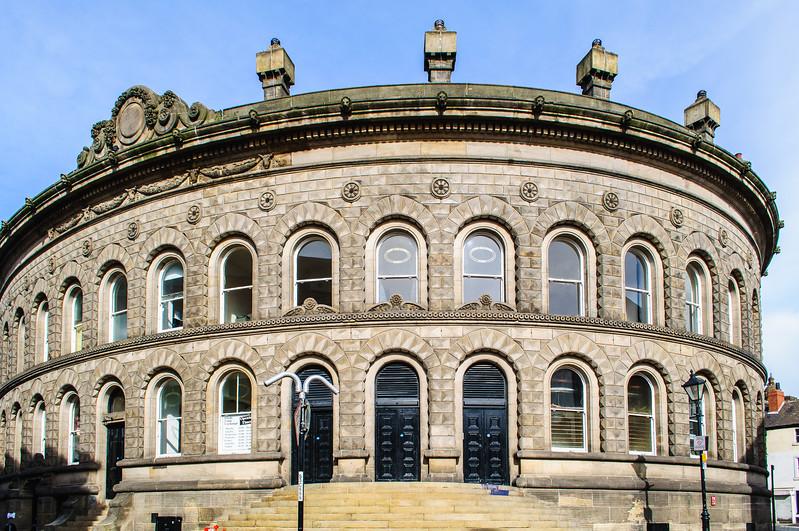 Leeds Corn Exchange by Cuthbert Brodrick c. 1864 - Leeds, England, UK