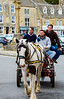 Horse, Cart & Riders - Stow-on-the-Wold, England, UK