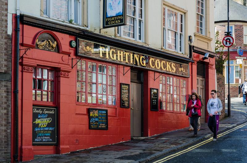 Fighting Cocks pub - Durham, England, UK