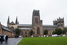 The approach to Durham Cathedral.