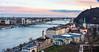 Danube River, Elizabeth Bridge, & Budapest from Castle Hill - Budapest, Hungary, EU