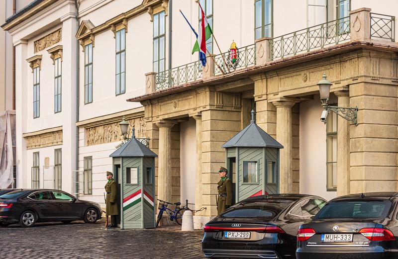 Sandor Palace Guards @ Castle Hill - Budapest, Hungary, EU