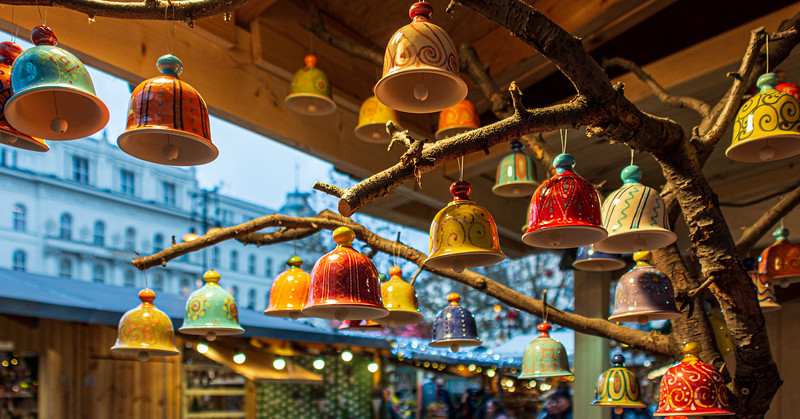 Handmade Bell Ornaments @ Christmas Market on Vörösmarty Square - Budapest, Hungary, EU
