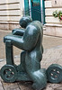 Rollerező (The boy on scooter) Sculpture by  Boldizár Szmrecsányi, 2008 on Vaci Utca - Budapest, Hungary