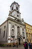 Church of St. Michael (Belvarosi Szent Mihály Templom) c. mid 1700's on Vaci Utca - Budapest, Hungary