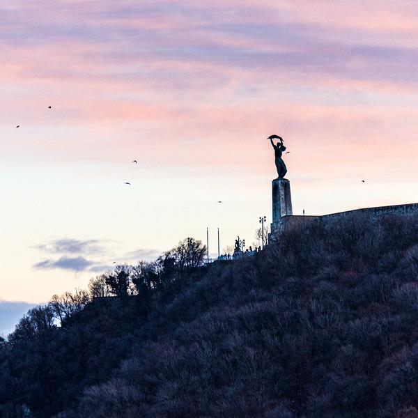Liberty Statue (Szabadság szobor, Zsigmond Kisfaludi Strobl) c. 1947 - Budapest, Hungary, EU