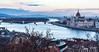 Danube River, Margaret Island, & Hungarian Parliament Building - Budapest, Hungary, EU