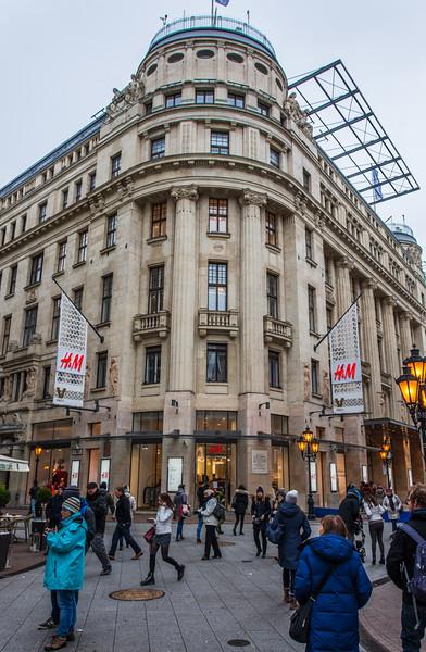 H&M Store on Vaci Utca - Budapest, Hungary