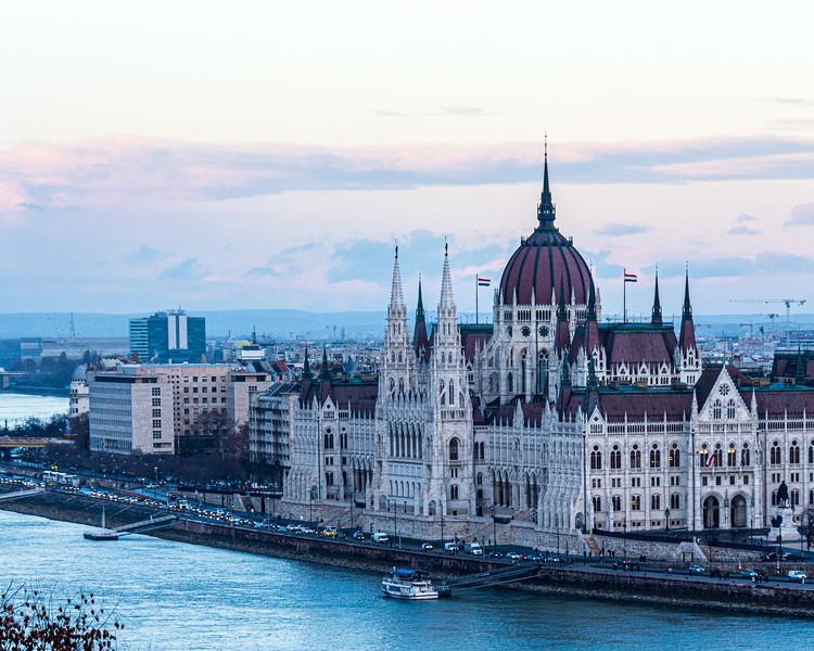 Hungarian Parliament Building (Országház, Imre Steindl) c. 1904 - Budapest, Hungary, EU