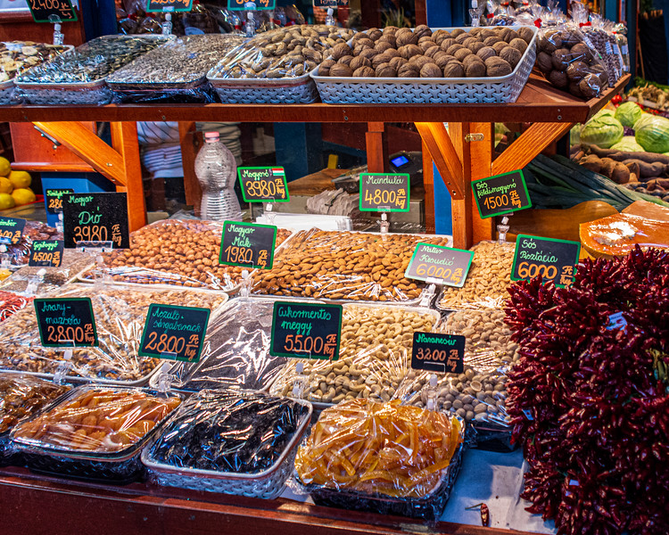 Nuts, Dried Fruit & Dried Pepper @ Great Market Hall - Budapest, Hungary, EU