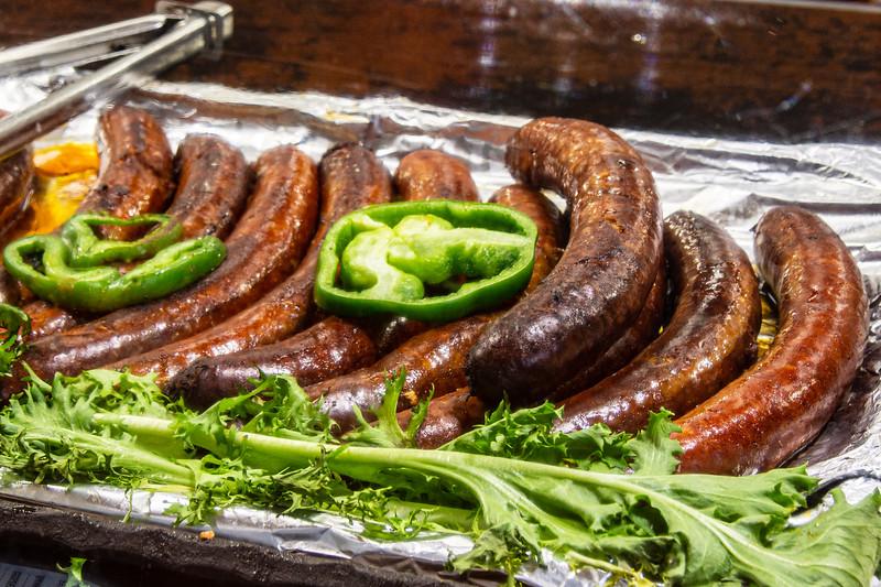 Sausages @ Christmas Market on Vörösmarty tér - Budapest, Hungary