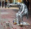 Living Statue @ Christmas Market on Vörösmarty tér - Budapest, Hungary