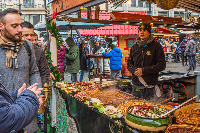 Toppings with Grilled Bread @ Christmas Market on Vörösmarty tér - Budapest, Hungary
