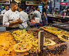 Lángos & Toppings (Fried Bread) @ Christmas Market on Vörösmarty tér - Budapest, Hungary