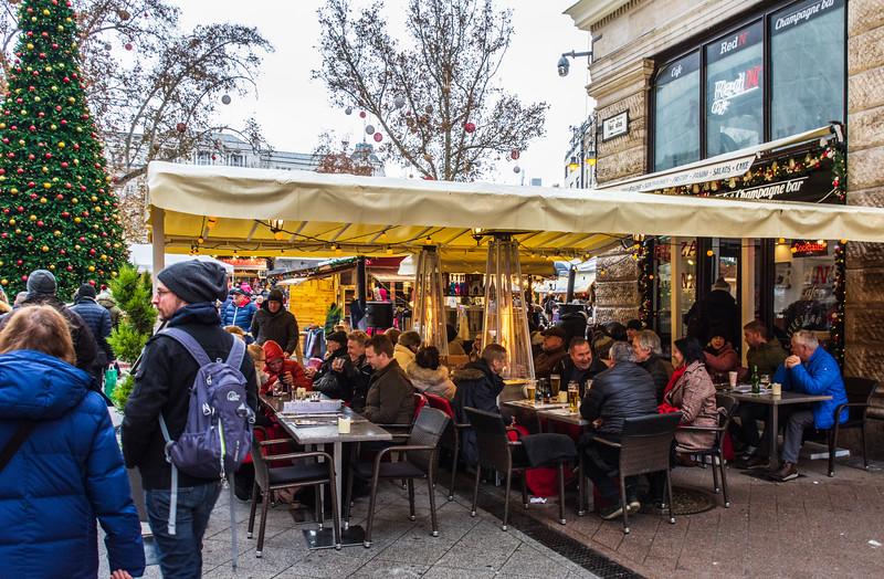 Red N' Cafe & Champagne Bar on Vaci Utca - Budapest, Hungary