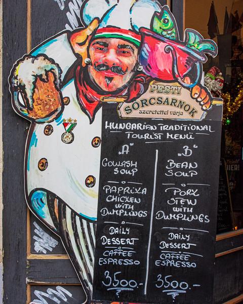 Traditional Hungarian Menu @ Pesti Sörcsarnok Pub & Restaurant - Budapest, Hungary, EU
