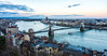 Danube River & Széchenyi Chain Bridge c. 1849 - Budapest, Hungary, EU