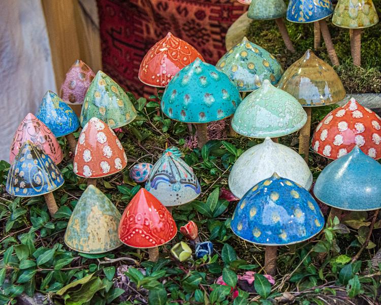 Ceramic  Mushrooms @ Christmas Market on Vörösmarty Square - Budapest, Hungary, EU