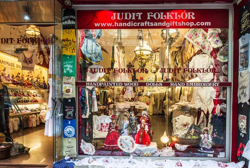 Judit Folklor on Vaci Utca - Budapest, Hungary