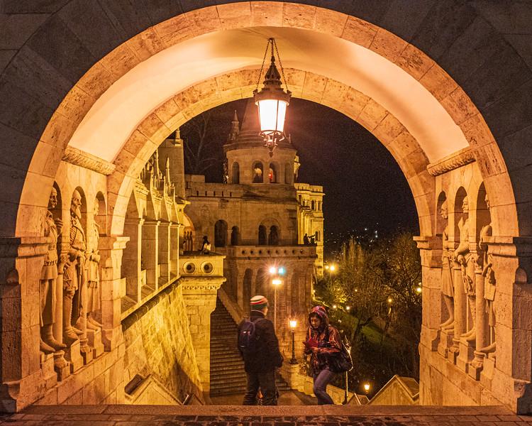 Upper Gate @ Fisherman's Bastion - Buda, Budapest, Hungary, EU