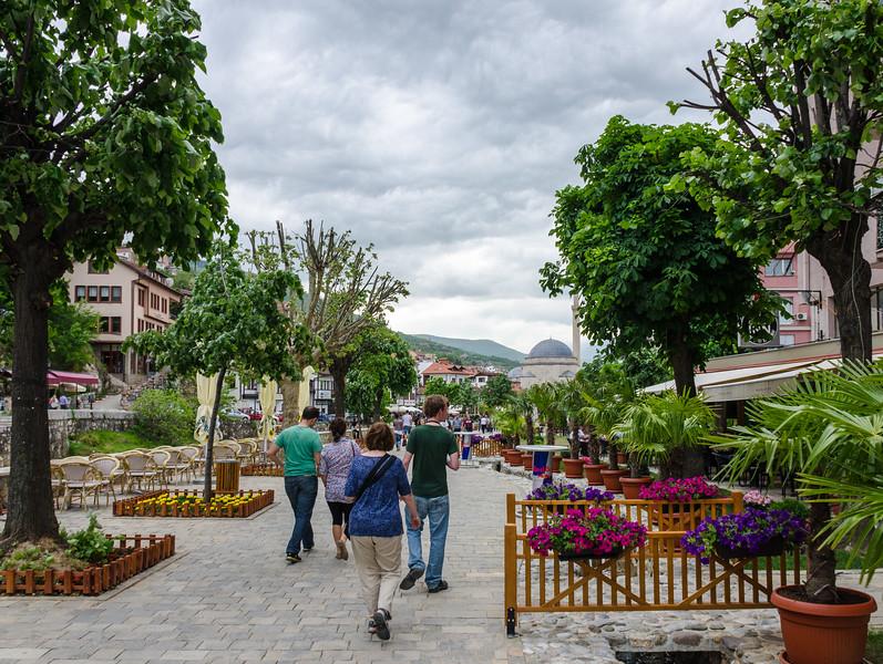 Walking Along Remzi Ademi blvd - Prizren, Kosovo