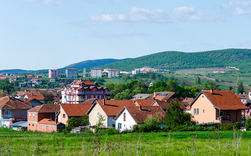View of Gračanica from the Ethno House Restaurat - Gračanica, Kosovo