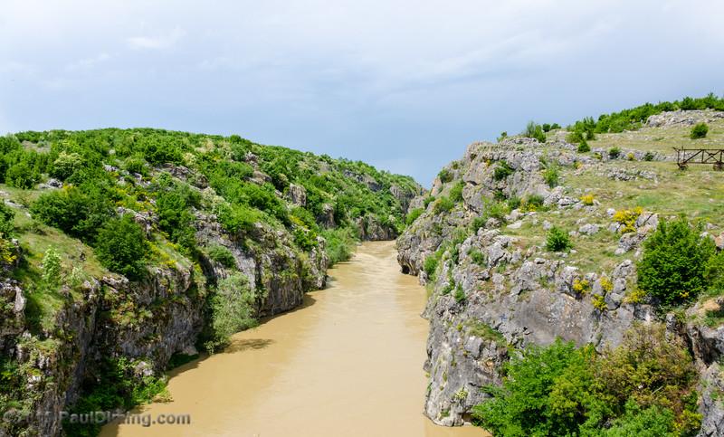 White Drin Canyon from Fshajt Bridge - Dol, Kosovo