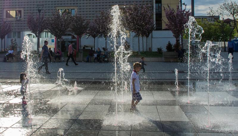 Mother Teresa Square Fountain - Pristina, Kosovo