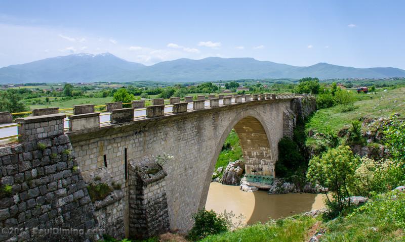 Highway R107 Crossing Fshajt Bridge (Ura Fshajt) c 1942 - Dol, Kosovo