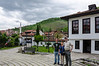 Pam, Chris & I @ The Prizen League House complex - Prizren, Kosovo