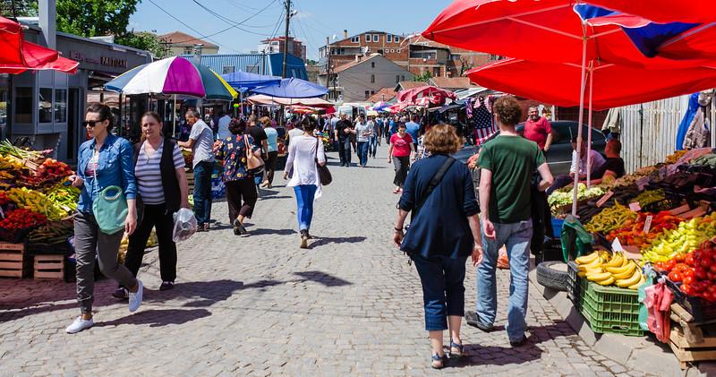 Walking through the Bazaar - Pristina, Kosovo