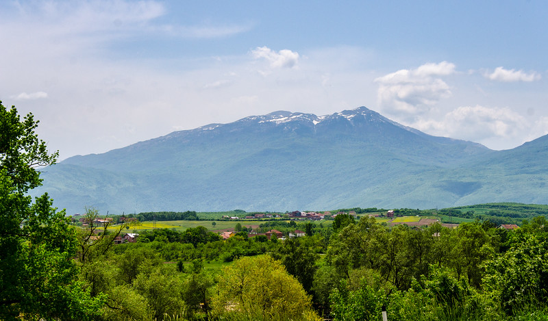 View of the Mountains Near Damjan from Fshajt Bridge - Dol, Kosovo