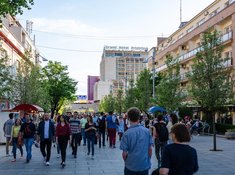 Walking Mother Teresa Boulevard - Pristina, Kosovo
