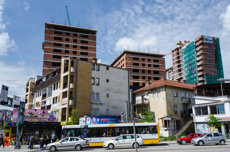 Apartment Blocks Under Construction - Pristina, Kosovo