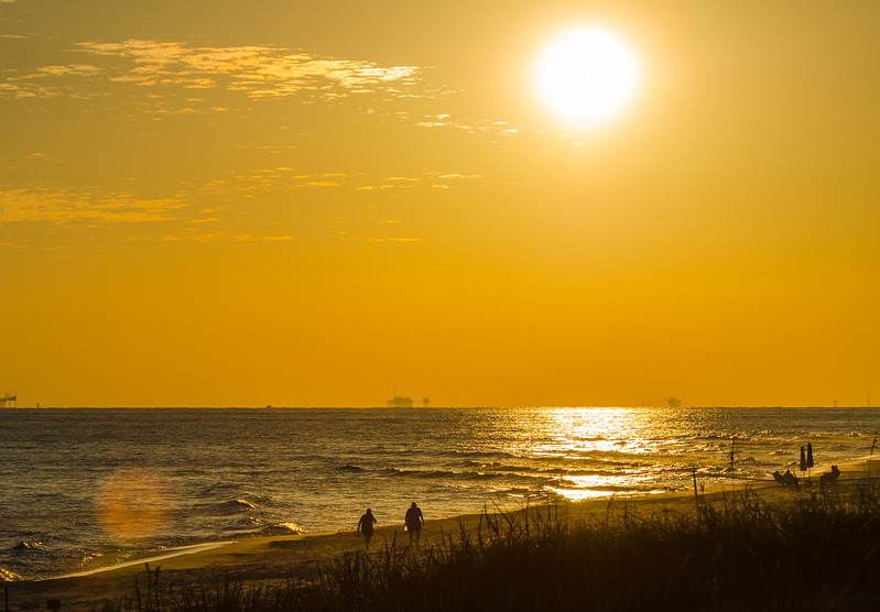 Sunset on the Gulf of Mexico - Gulf Shores, AL
