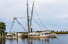 Lady Louise (starboard) on Scipio Creek, Apalachicola, FL