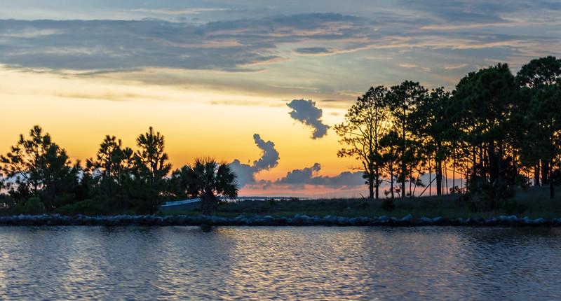 Evening Sky on Apalachicola Bay - Apalachicola, FL