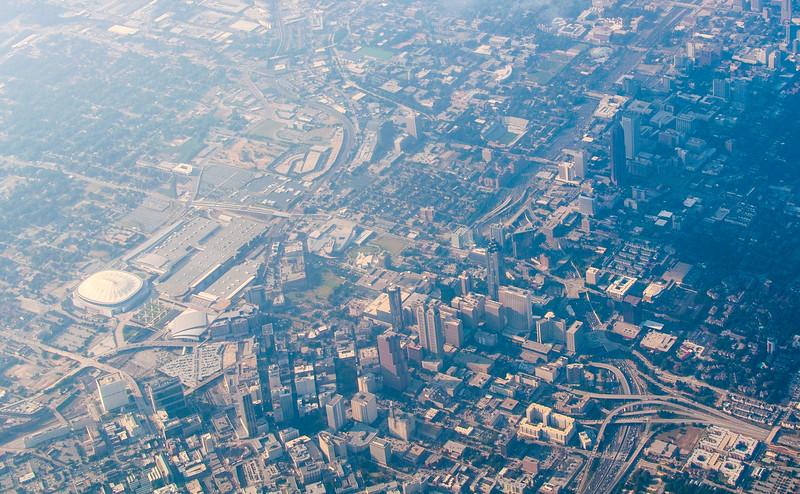 View of Atlanta, Georgia from Delta 64