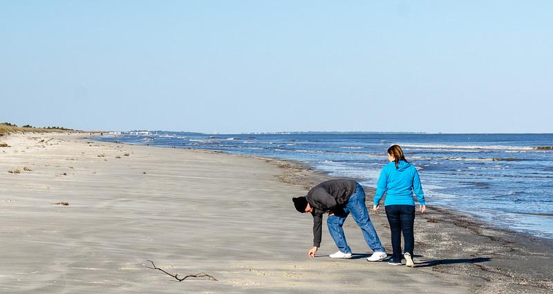 Beachcombers @ South Dunes Picnic Area - Jekyll Island, GA